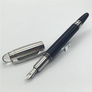 Высокое качество Лучший MB-SW черный и серебристый круг Обложка Fountain Pen с кристаллическим головкой для подарка