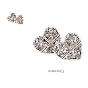 Oroton Crystal Heart Earrings High Quality Diamond Stud Earrings Limited Edition
