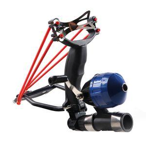 Scrub Black Powerful Goal Shooting Slingshot With Folding Wrist Catapult Professional Hunter Hunting Fish Sling Shot