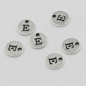 10mm Antique Silver Metal Alphabet Charm A-Z Pendant For DIY Jewelry Making
