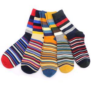 Wholesale- 1Pair Men Funny 3D Socks Calcetines Socks For Men Chaussette Homme Colorful Striped Meias Warm Socks Compression Sokken