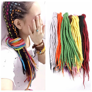 Synthetic Crochet tresses Twist Cheveux Népal Felted Dreadlocks Tressage synthétique Extensions de cheveux 90cm-120cm 24Couleurs populaires