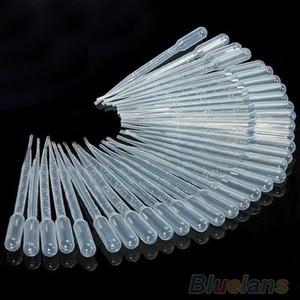 Gros- haute qualité New 100PCS 3ml plastique jetables Pipette Set transfert Pipettes graduées 0223 3SVX 8CNO