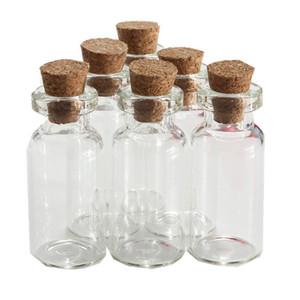 Venda por atacado- 5pcs / lot 2ml Pequeno frasco de vidro Vazio Desejando transparente Drifting Garrafa Message Vial With Cork Stopper Frascos Frascos Containers