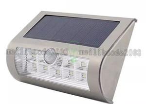 Новый 9LED PIR Солнечный настенный светильник led настенный светильник Солнечный Умный свет для сада двор патио путь забор открытый водонепроницаемый освещение MYY