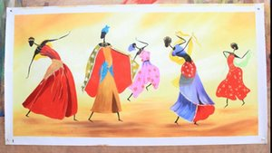 Baile enmarcado, pintura al óleo abstracta del arte abstracto de Handcraft en la lona de alta calidad para los tamaños múltiples de la decoración de la pared