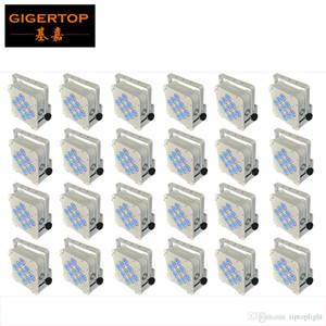 Большая скидка 24XLOT 9 * 18W 6in1 RGBAW УФ батареи Беспроводной светодиодный плоский Par свет, LED Slim Par Can, американский DJ Light TIPTOP LIGHT TP-B01