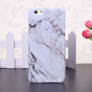 New Fashion Granite Marble Texture Fundas Capa Matte Slim Custodia in plastica per iPhone 7