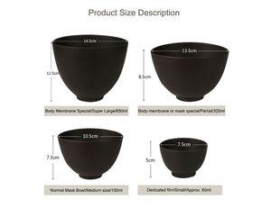 Elitzia ETBWP001 Máscara de Herramientas de Silicona Suave Tazón Tazón Ajuste Película Bowl Set Salón de Belleza de Película Suave Polvo Necesario Suministros de Color Marrón 4 Tamaño