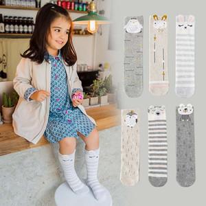 0-12y All'ingrosso Autunno Inverno Calze per bambini cotone carino Cartoon calzini bambini Knit Knee High Socks Ragazze Migliore calzino Toddler Wear A1147