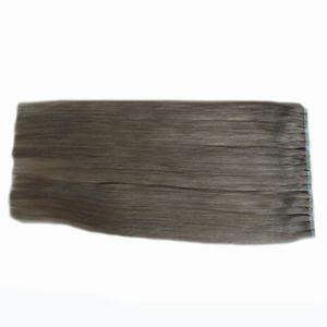 Brazillian Straight silbergrau Haarverlängerungen 120 Stück menschlichen virgen Haarverlängerungen Klebstoff 300g Band in menschlichen Haarverlängerungen