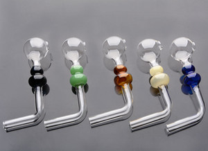 glass pipes handle calabash smoking pipes oil burner recycler