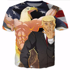 New Fashion Women men's 3D Print Funny Donald Trump Casual Short Sleeves T-shirt T01