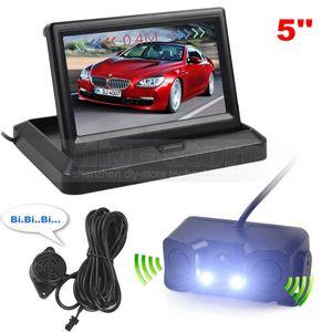 5inch Car Reversing Camera Kit 자동차 모니터 주차 레이더 센서 2 in 1 Car Camera Parking System
