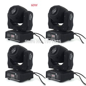 (4pcs) DMX Disco Moving Head Light 60W Led Spot for Professional Led Stage Light with sound-activated، master-slave