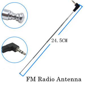 Envío libre 10pcs antena telescópica de 3,5 mm antena de radio FM Conector de enchufe masculino para el teléfono celular móvil del mp3 mp4 Altavoces 245 mm Longitud