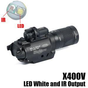 NOVA SF X400V-IR Lanterna Tactical Gun Light LED Branco e Saída IR Com Vermelho Laser Preto