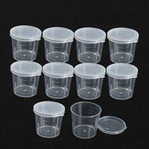 도매 -10Pcs / lot 플라스틱 졸업 컵 액체 플라스틱 측정 컵 30 ml 컨테이너 컵 측정 연구소 실험실 실험