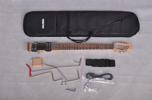 Mini yıldız Lestar seyahat Taşıma çantası ile Elektrik gitar, Mini, Taşınabilir, Sessiz Gitar, Toptan