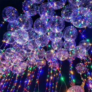 Light Up Jouets LED de lumières Flasher éclairage vague Ballon Ballon Ballons Décoration 18inch hélium Halloween Noël meilleur cadeau 0708154