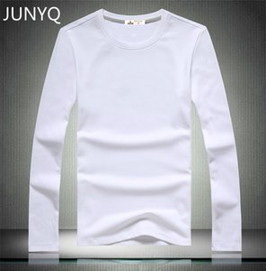 Großhandels- Freies Verschiffen 2016 Marke Kleidung Blank T-Shirts langärmeligen Casual T-Shirt 100% Baumwolle Männer T-Shirts