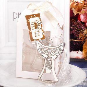 100pcs / lot Creativo Angel Design Abrebotellas de cerveza Mejor regalo de boda y favores de la fiesta