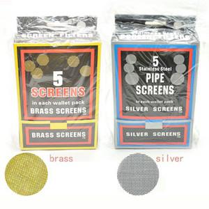 20mm 파이프 화면 황동 흡연 스크린 500PCS / 많은 금속은 모든 파이프 또는 봉으로 사용하기 위해 실버 및 황동 스테인리스 필터