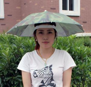 써니 우산 모자 비치 캠프 헤드 모자 낚시 모자를 쓰고 있죠 Sun Sunshade Rainy Umbrella Hat 비가 오는 휴대용 접는