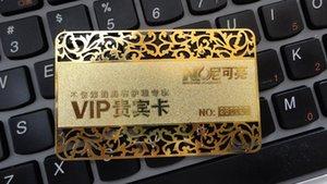بطاقة الأعمال المعدنية الذهبية (الماس) جودة عالية أفضل سعر الشحن مجانا
