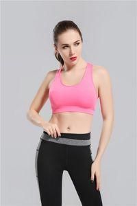 2017 Pembe Yoga Sutyen Moda Hızlı Kuru Spor Womens Tops Spor yoga spor sutyeni Spor Giysi Ücretsiz Drop Shipping gally