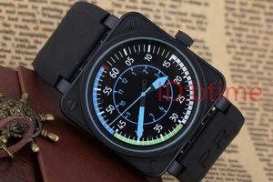 Wholesale bbr-01 airspeed airspeed новый колокол авиации Mens limited Edition часы черный резиновый нержавеющая сталь оранжевый желтый голубой мужские часы