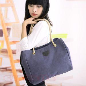 Neues Angebot moderne Frauen-Dame Canvas Messenger Purse Satchel Tote Shopper Handbag Hobo Schultertasche geben Verschiffen frei