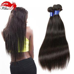 """الحديث تظهر 3 قطعة الماليزية مستقيم الشعر 10 """"-28"""" اللون الطبيعي لينة حريري الشعر البشري حزم 300 جرام ريمي الشعر نسج"""