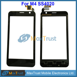 100PCS Top Quality For M4 SS4020 Touch Screen Digitizer Front Glass Panel Sensor Replacement Black Color