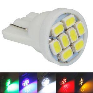 100pcs T10 1206 3020 8SMD w5w 194 168 192 자동 차 웨지 8 개의 LED SMD 정리 전구 램프 스타일링 도매 흰색 파란색 빨간색