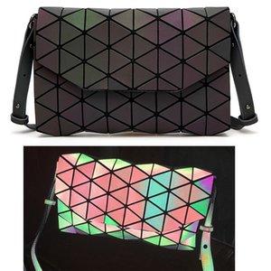 2017 Nuevas Mujeres Bolso Patchwork Enrejado Hombro Crossbody Bolsas Messenger Bag patrones geométricos
