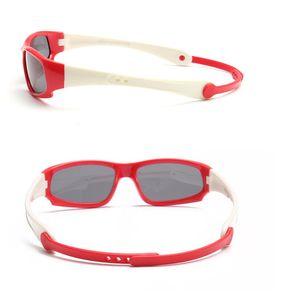 Occhiali da sole di protezione per bambini in silicone per bambini all'ingrosso Occhiali da sole per bambini Fashinon Girl Boy polarizzati Full Frame Sunglasses