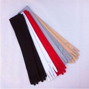 High Elastic Womens Lady Sweet Elbow Comfy Solid Long Winter Korean Gloves Glove for Driving Wedding Dress Decor ANTI-UV