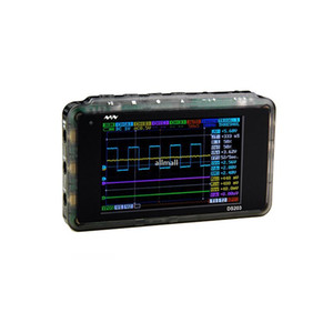 Freeshipping ميني الذبذبات الرقمية LCD USB ARM نانو V2 رباعية المحمولة Osciloscopio 8MHZ 4CHANNEL البلاستيك القضية Osciloscop