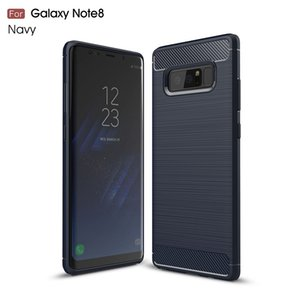 10PCS Cases For Samsung Galaxy Note8 Carbon Fiber heavy duty shockproof armor case for Galaxy Note8 2017 hot sale Free shipping
