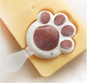 DIY gato garra hielo molde de plástico Huevo Escalfado creativo helado de paletas de helado caja Sakura garra caja de paletas caseras