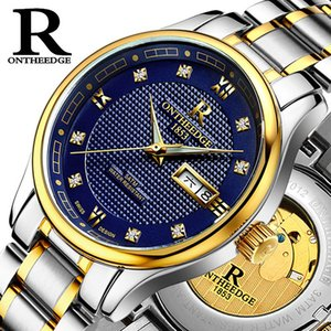 Fully automatic Mechanical watch Business Luminous Hollow waterproof Steel strip Watch