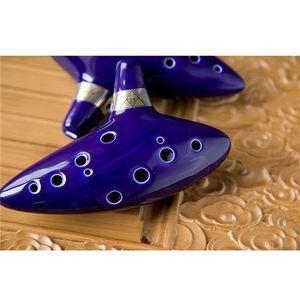 La nueva llegada 12 Agujero de cerámica Ocarina Alto C Leyenda de Zelda Ocarina Instrumento azul flauta envío libre