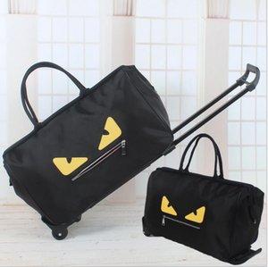 O envio gratuito de grande capacidade de bolsas de mulher saco trave oxford saco de bagagem dobrável com rodas bagagem sacos bolsa viajando grande capacidade