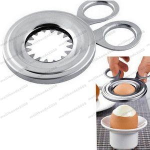 2017 NUEVA Duradera Conveniente Acero Inoxidable Boiled Egg Shell Topper Cortador Snipper Abridor de Cocina Gadget Hogar Esencial MYY