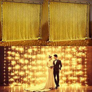Umlight1688 3 * 3m 6 * 3m 10 * 3m Vorhang Lichter LED Star String Fairy String Licht Festival Weihnachten Blitzlicht für Party Hochzeit Dekoration