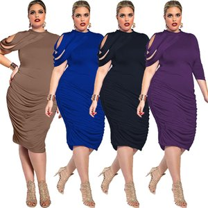 Moda 2017 Donne OL Bandage Dress irregolare Black Sexy Vestidos Slim elegante casual aderente Midi Dress Ladies Clothes