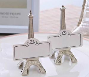 Держатель карты Париж Эйфелева башня романтические декорации папка сообщения творческий металлический фото держатель Визитная карточка