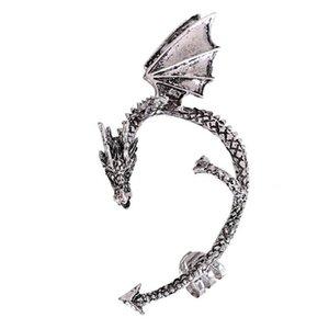 Dragón de las mujeres góticas en forma de aleación Ear Cuff Pendientes Cool Party Jewelry Stud Pendientes regalos