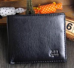 2017 Exportación Nueva Moda Hombres Bifold 2 Fold Negro Opcional Calidad Pu de cuero Diseñador Titular de la Tarjeta Monedero Monedero Envío Gratis